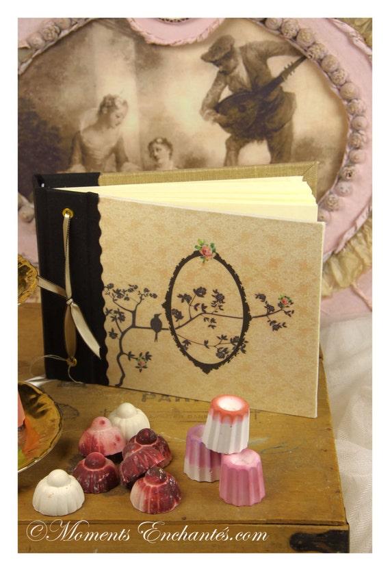 Note book bird flowers, secret book or guest book