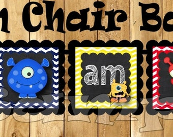 I am one Birthday Banner Monster High chair banner Monster banner 1st Birthday garland monster decoration chalkboard sign Chalk decor aliens