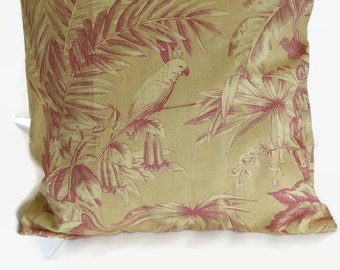 Pillow Cover Parrot Print 18""