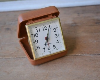 FREE SHIP Vintage Travel Alarm Clock By Westclox