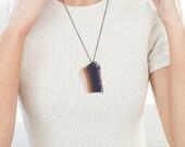 "Sliced Agate Geode Pendant Necklace - ""Tara"""