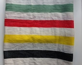 Blanket Scarf- Ivory Creme Organic Ethiopian Cotton wrap blanket with black green red yellow Stripes-Scarves & Wraps/ Winter Accessories