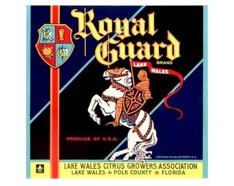 Royal Guard Florida Citrus Crate Label