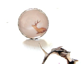 Deer ring , eco friendly Adjustable Ring , free shipping