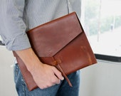 leather folio - leather briefcase - leather folder - Ipad Case