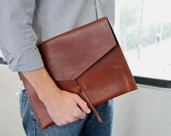 leather folio - leather briefcase - leather folder - Ipad Case