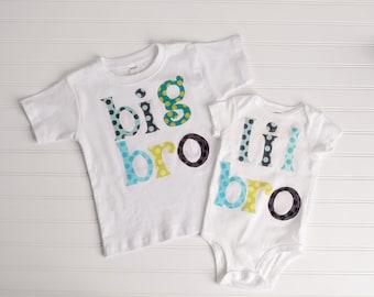 Big Bro/Lil Bro Set of 2 Matching Outfts
