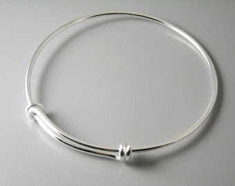 BNG-S-61MM - Silver plated brass bangle wire - 61mm round - 3 gauge