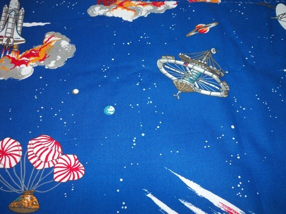 Space exploration fabric moon landing moon rover space for Space shuttle fabric