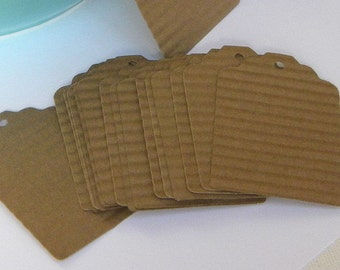 25 brown paper tags - kraft paper tags - gift tags - wedding favor tags - merchandise tags - jar tags - hang tags - craft supplies