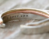 READY TO SHIP Valentines Day Gift / Personalized / Gift For Her / Gift for Wife / I Love You / Love Gift / Inspirational / Love Jewelry