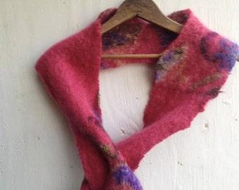winter rose lilac gift warm holiday mohair angora iceland upcycled eco wrap Kateblossom shawl rustic boho scarf