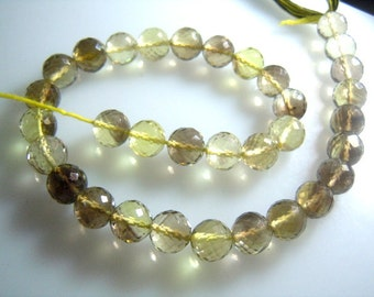 Bio Lemon Quartz Faceted Round Beads 8x8 MM Approx8'' Full Strands Outstanding AAA Quality Wholesale Price