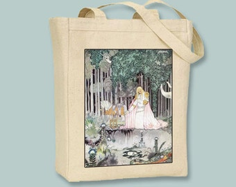 East of the Sun, Kay Nielsen Illustration Natural or Black Canvas Tote - Selection of sizes available
