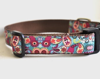 Dog Collar - Paisley Pup -  50% Profits to Dog Rescue