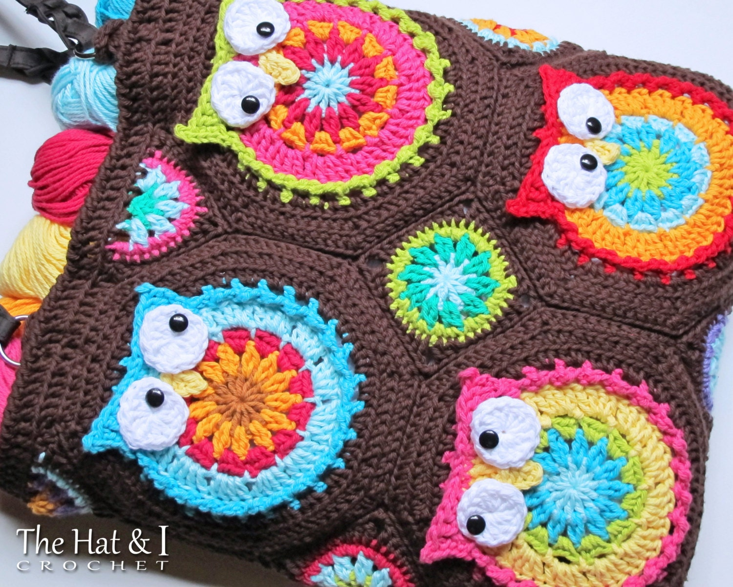 Crochet pattern owl toteem a colorful crochet owl tote crochet pattern owl toteem a colorful crochet owl tote pattern colorful owl bag pattern purse pattern w owls instant pdf download bankloansurffo Choice Image