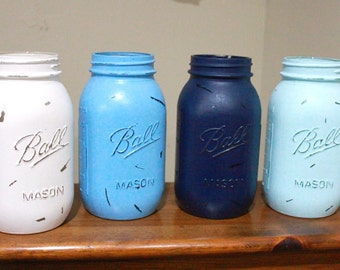 Quart size mason jar vase set