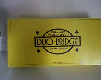1981 Four-Handed Contract Bridge Duo Bridge by Just Games