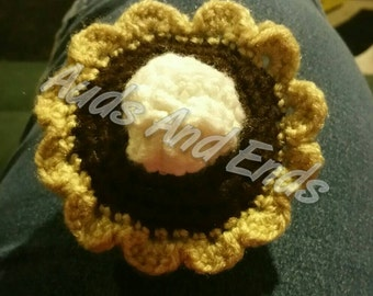 Cute made to order crochet chocolate pie amigurumi