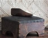 Antique Primitive Foot Stool Ottoman