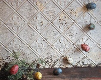 Easter Egg Garland Primitive Country Easter Decor