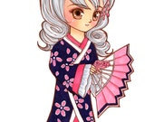 Anime Style Single Coloured Chibi SD(Super Deform) with no background Commission