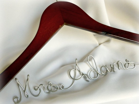 Bride Name Hanger, Personalized Coat Hanger With Gift Wrapping