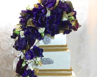 Wedding Card Box Purple  Wedding Card Holder Wedding Card Box Secure Lock Wedding  Card Box, Off White Wedding Card Box