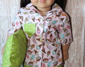 American Girl Sweet Treats PJ set, will fit Bitty Baby