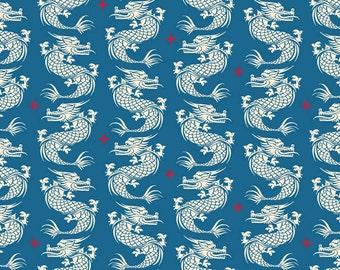 Ninja Royalty Blue Fabric YARD