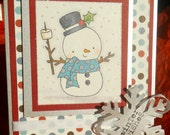 Winter Wishes Snowman Christmas Card