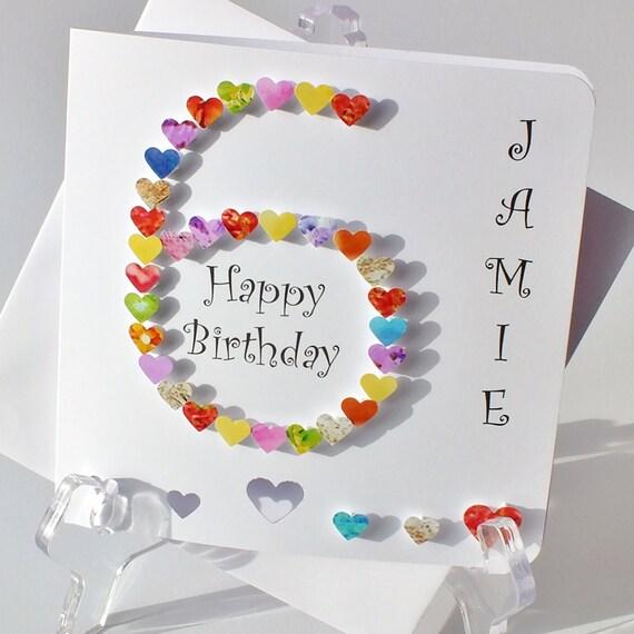 ... Card, Happy Birthday, Six Years Old, Sixth Card, Childrens Age 6 Boy