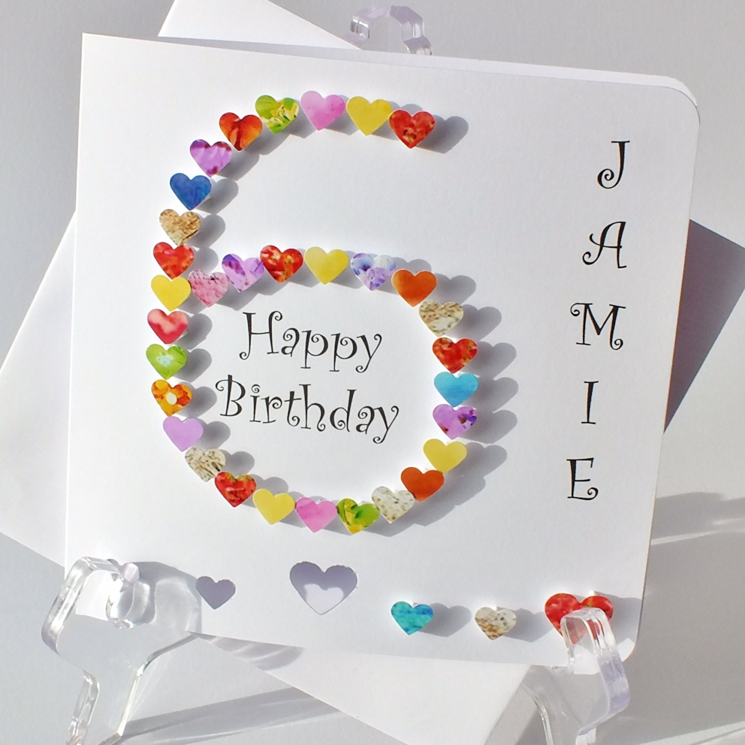 Handmade 3D 6 Card 6th Birthday Card Personalised – 6 Year Old Birthday Card
