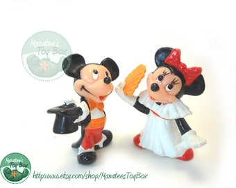 Mickey and Minnie Mouse Figures Vintage Disney Toys Anniversary Wedding Couple