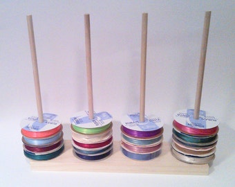 Scrapbook Ribbon Holder Storage Rack Spool Organizer Holds 70 Spools