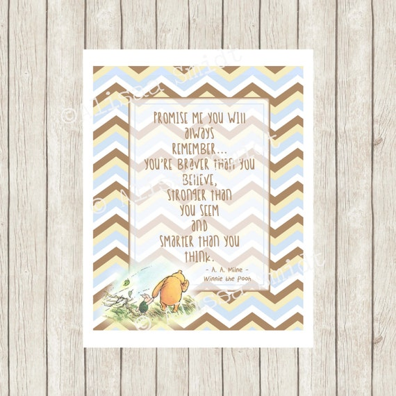 Winnie The Pooh Nursery Print Nursery Decor Nursery Sign
