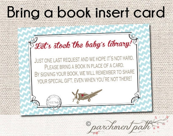baby shower instant download bring a book instead of a card
