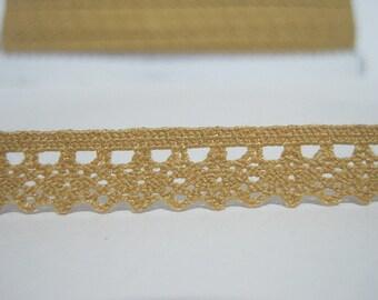 5 yards Goldenrod Crochet Lace Trim, Lace Trim, Crochet Lace Trim, Lace Trim Ribbon, gold lace trim, gold lace, gold trim, gold lace trim