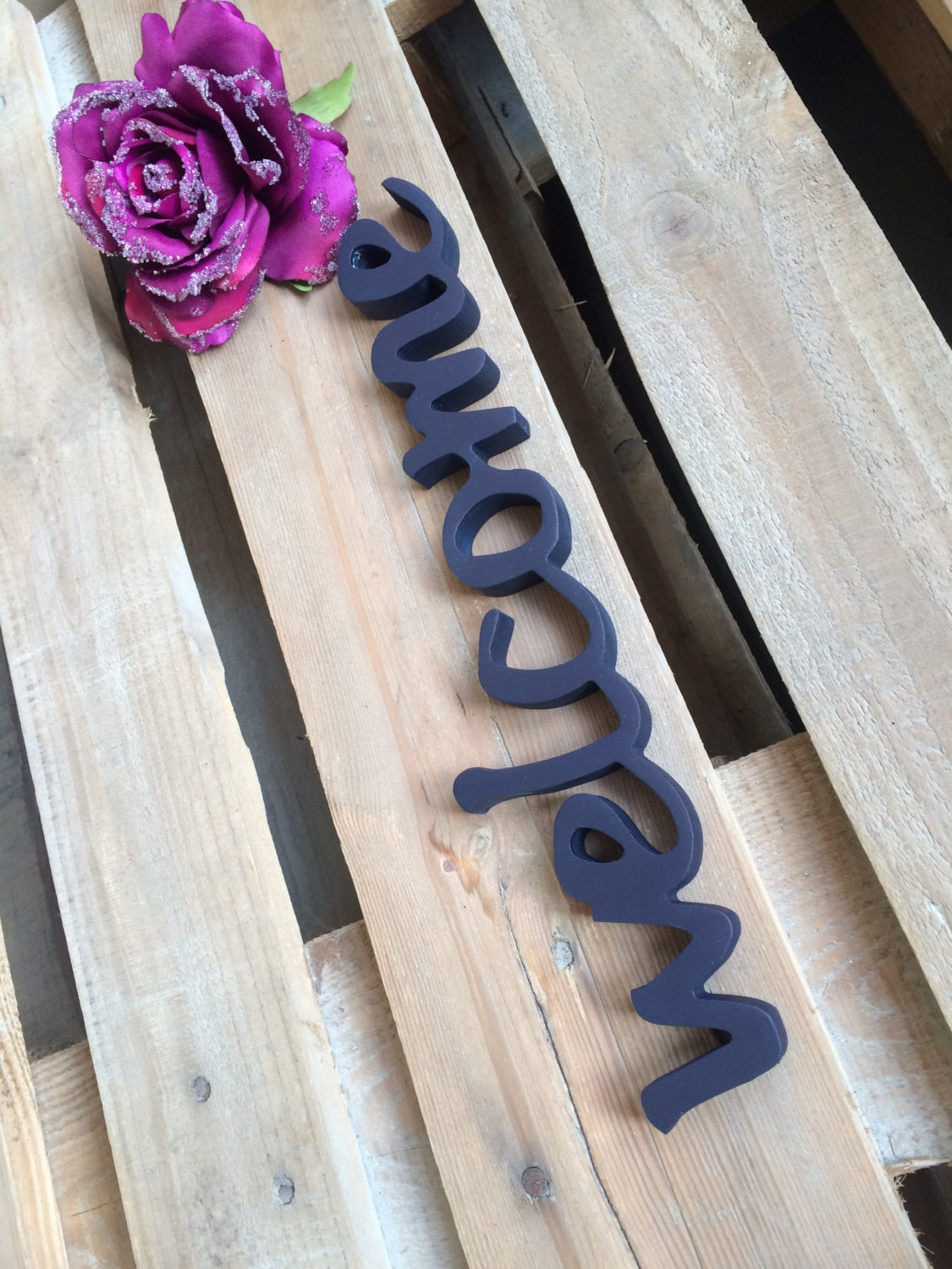 Wedding Welcome Sign Wooden Letters WELCOME Home Decor By Svetulka