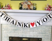THANK YOU Banner-/Wedding Banner- Wedding Garland -Wedding Reception Sign-Photo Prop-Can be Customized