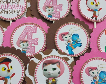 SET OF 12, Sheriff Callie Cupcake Toppers