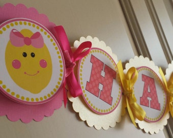 Pink Lemonade Birthday Banner
