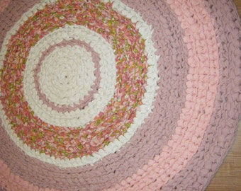 Pink Fabric Rug\\Girls Pink Rug - for Etsy