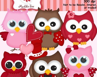 Whoo Loves You Owl Cuties 1 Clipart (Digital Download)