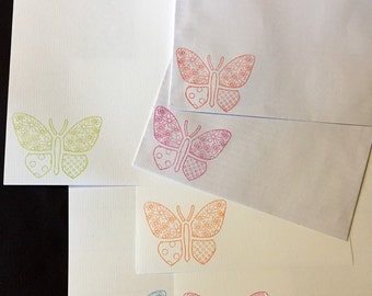 Patterned Butterfly Letter/Writing Set