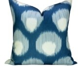 OUTDOOR - Bukhara pillow cover in Blue/Blue