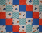 CLOSEOUT Upcycled Finding Nemo Quilt Patchwork  Quilt