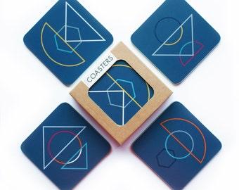 NEW 'Outlines' design, square Coaster set