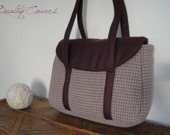 READY to SHIP Laptop bag - Fully Padded - WATERPROOF Fabric -Tote - Handbag - Shoulder Bag - Everyday bag - interior Pockets