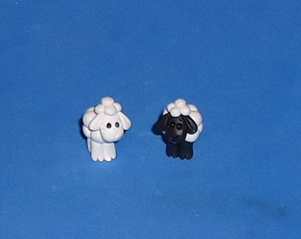 Polymer clay IttyBitty Lamb (One)